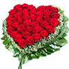 Order Heart shaped roses all over Russia, Ukraine and other ex-USSR countries